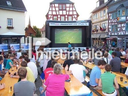 Leinwand mieten & vermieten - Großbildleinwand für Outdoor Veranstaltungen in Giebelstadt