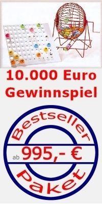 Gewinnspiele mieten & vermieten - Bingo inkl. Moderator als versichertes Gewinnspiel in Schwollen