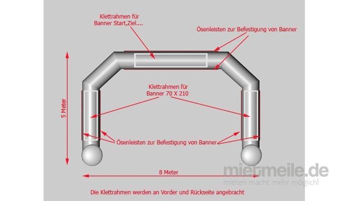 Aufblasbare Dekoration mieten & vermieten - Torbogen in Hannover