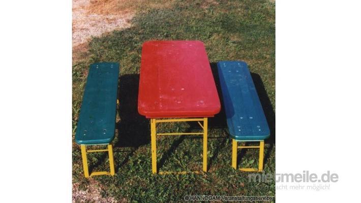 Kindermöbel mieten & vermieten - Festzeltgarnitur für Kinder in Hannover