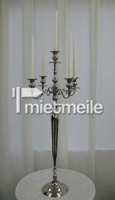 Tischdekoration mieten & vermieten - Kerzenleuchter silber 5-armig 100cm in Endingen am Kaiserstuhl