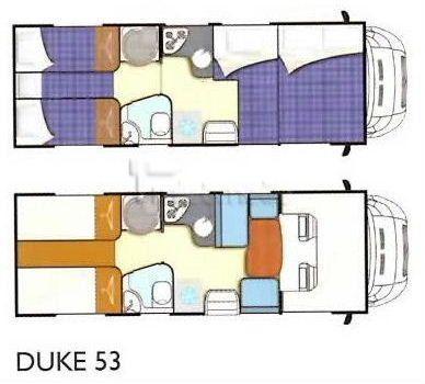 Wohnmobile mieten & vermieten - Elnagh Duke 53, Längsbetten, 5 Personen, gr.Garage in Rheinböllen