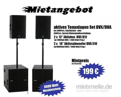Musikanlage mieten & vermieten - PA / TonAnlage für Events mit ca. 150 bis 300 Personen - Musikanlage mieten in Selm