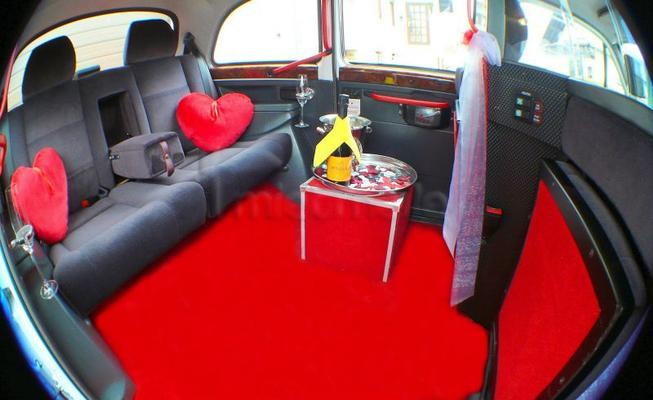 Hochzeitsauto mieten & vermieten - Hochzeitsauto London Taxi Hochzeits-Sonderfahrten in Linsengericht