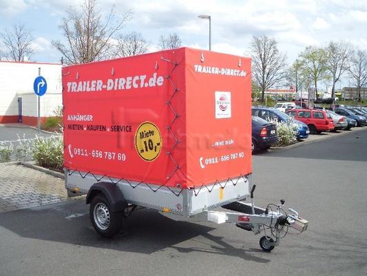 Planenanhänger mieten & vermieten - Pkw Anhänger 1300kg inkl. Hochplane (185cm) in Eckental