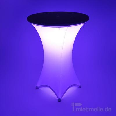 Stehtische mieten & vermieten - LED Stehtisch - beleuchteter Bistrotisch in Hochheim am Main