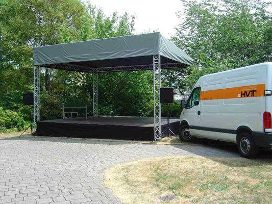 Bühne mieten & vermieten - Bühne mit Bühnendach - 6 x 5m in Waldshut-Tiengen