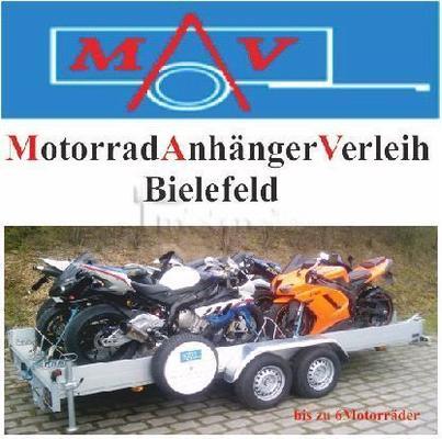 Motorradanhänger mieten & vermieten - MotorradAnhängerVerleih Bielefeld in Bielefeld