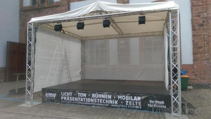 Bühne mieten & vermieten - mobile Bühne, Open Air, Konzert Bühne 5x4m in Mannheim
