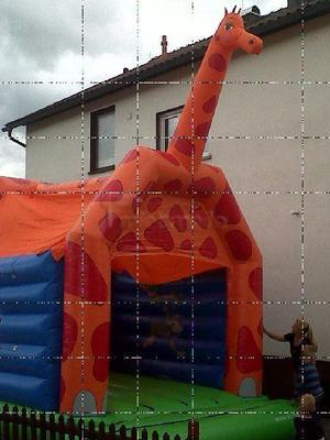 Hüpfburg mieten & vermieten - Hüpfburg 4x5 Meter, Giraffe    Inkl. MWSt. in Sinsheim