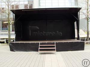 Bühne mieten & vermieten - mobile Bühne 6m x 4m in Neukirchen-Vluyn