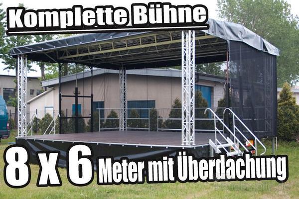 Bühne mieten & vermieten - Veranstaltungsbühne / mobile Bühne / Stage 8 x 6 m in Herzberg (Elster)