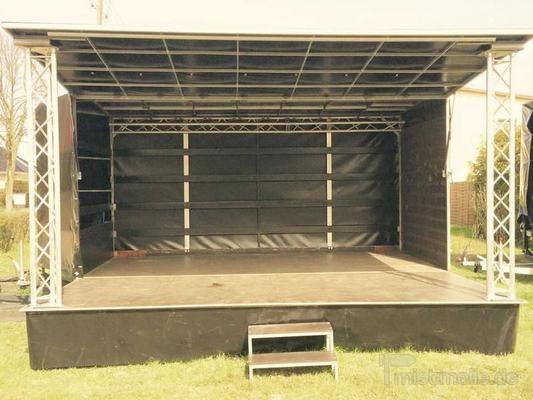 Bühne mieten & vermieten - Veranstaltungsbühne / Bühnenwagen / Mobile Bühne 5x4m in Herzberg (Elster)
