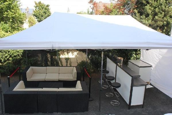 Komplettausstattungen mieten & vermieten - Sektempfang mit Zelt, Stehtischen, Barhockern uvm. in Hochheim am Main