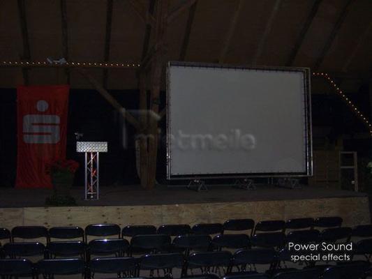 Videotechnik mieten & vermieten - Auf- und Rückpro Videoleinwand groß in Trittau
