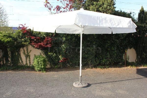 Sonnenschirme mieten & vermieten - Schirm mit 400cm Spannweite (weiss) in Hochheim am Main