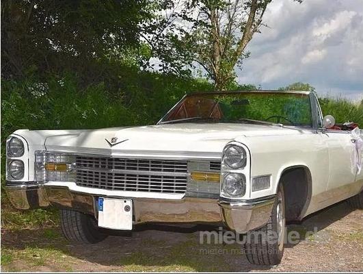 Hochzeitsauto mieten & vermieten - Cadillac de Ville Cabriolet in weiß - Hochzeitsauto in Hannover