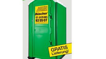 Toilettenkabine mieten & vermieten - Baustellen-Toilette, mobile Toilette, Miet WC, Klo, | GRATIS Lieferung | bauklo24 in Gronau (Westfalen)