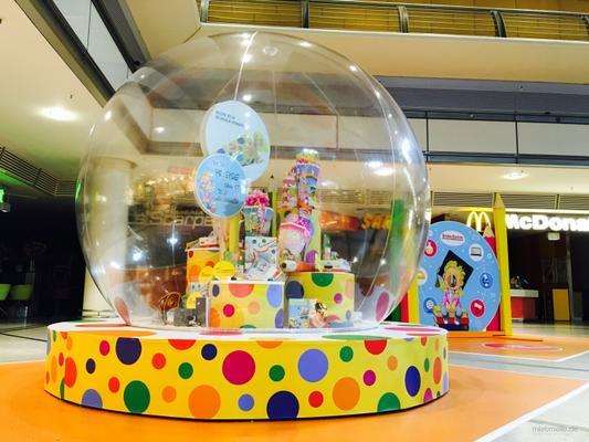 Aufblasbare Dekoration mieten & vermieten - XXL- Bubbles - transparente Kugel in Berlin