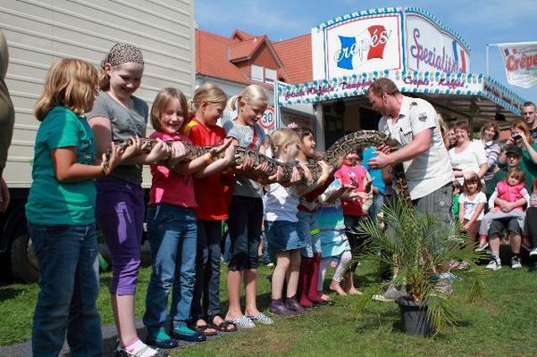 Walkact mieten & vermieten - Rollender Zoo - Reptilienschau in Bramsche