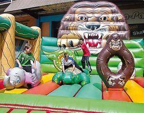 Hüpfburg mieten & vermieten - Hüpfburg Dschungel, Hüpfburg, Dschungel, Kinderfest, Party in Würzburg