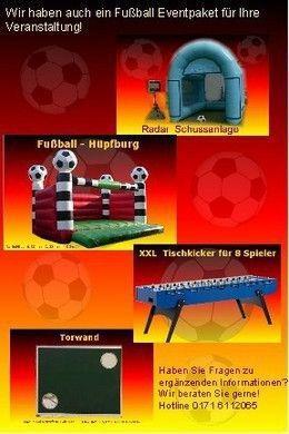 Fußball mieten & vermieten - Fußball Radar Schussanlage, inkl. 20 Km,Auf-u.Abbau, 1x Personal & Haftpflichtversicherung. in Dinslaken