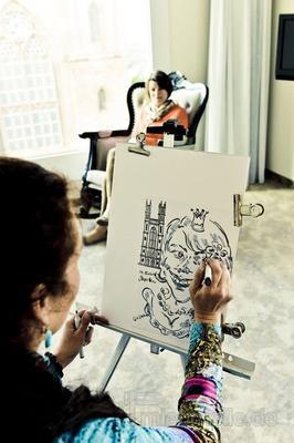 Schnellzeichner mieten & vermieten - Schnellzeichnerin - Karikaturistin - Porträtistin in Berlin