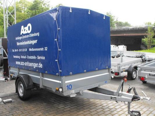 Planenanhänger mieten & vermieten - Anhänger mit Hochplane Brenderup 2300 S 1,3 t - Innenhöhe 160 cm in Oldenburg (Oldenburg)