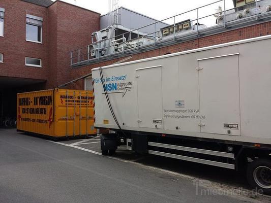 Stromversorgung mieten & vermieten - Stromerzeuger Superschallgedämpft 500 kVA in Neuenhaus