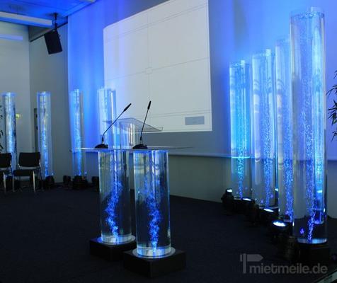 Leuchten & Lampen mieten & vermieten -  Wassertheke, Wassersäule, Messetheke, Rednerpult in Krefeld