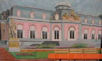 Kulissen mieten & vermieten - Schloss Benrath Kulisse, Schloss Benrath, Benrath, Kulisse, Schlosskulisse, Dekoration, Schloss, Burg, Hof, Event in Kamp-Bornhofen