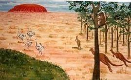 Kulissen mieten & vermieten - Ayers Rock Kulisse, Ayers, Rock, Ayers Rock, Kulisse, Australien, Uluru, Fels, Landschaft, Dekoration, Party, Event in Kamp-Bornhofen