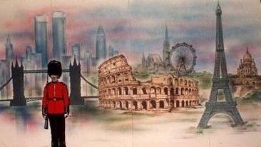 Kulissen mieten & vermieten - Europa Kulisse, Europa, Kulisse, Dekoration, EU, London Eye, Colosseum, Towerbridge, Eiffelturm, Paris, London, Rom in Kamp-Bornhofen