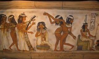 Kulissen mieten & vermieten - Ägyptische Wandmalereien Kulissen, Kulisse, ägyptisch, Ägypten, Wandmalerei, Malerei, Hieroglyphen, Kryptisch, Pyramide in Kamp-Bornhofen