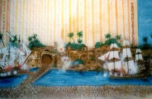 Kulissen mieten & vermieten - Hotel Tresure Island Kulisse, Kulisse, Hotel Tresure Island, Schatzinsel, Las Vegas, Casino, Dekoration, Event, Messe in Kamp-Bornhofen