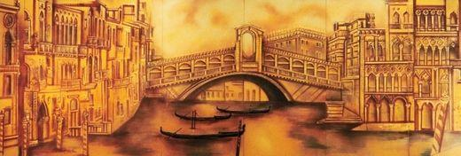 Kulissen mieten & vermieten - Venedig Rialtobrücken Kulisse, Kulisse, Brücke, Venedig, Dekoration, Italien, Adria, Rialto, italienisch, Kanal, Event in Kamp-Bornhofen