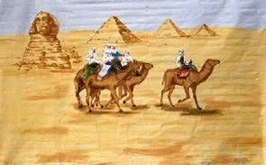 Kulissen mieten & vermieten - Pyramiden Kulisse, Pyramide, Kulisse, Sphinx, Afrika, Ägypten, Ägyptisch, Wüste, Dekoration, Pharao, Event, Messe in Lahnstein