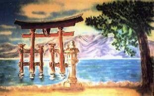 Kulissen mieten & vermieten - Japan Torii Kulisse, Japan, Torii, Kulisse, China, chinesisch, japanisch, Asia, Asien, asiatisch, Dekoration, Event in Kamp-Bornhofen