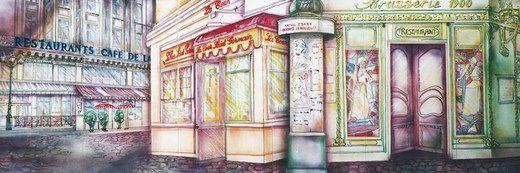 Kulissen mieten & vermieten - Frankreich Brasserie Kulisse, Frankreich, Brasserie, Kulisse, France, Paris, französisch, Dekoration, Event, Messe in Lahnstein