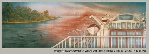 Kulissen mieten & vermieten - Kreuzfahrtschiff in Fahrt Kulisse,Kreuzfahrtschiff in Fahrt,Schiff,Kreuzfahrt,Meer,See,Kulisse,Dekoration,Messe,Event in Lahnstein