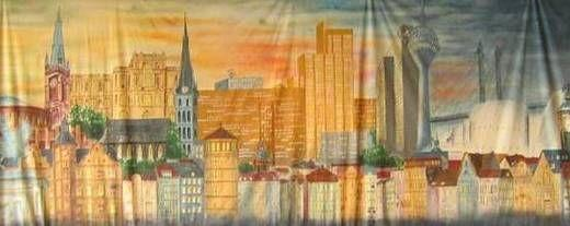 Kulissen mieten & vermieten - Düsseldorf Stadt Kulisse, Düsseldorf, Kulisse, Stadtkulisse, Dekoration, Stadt, Düsseldorf Skyline, Event, Messe in Kamp-Bornhofen