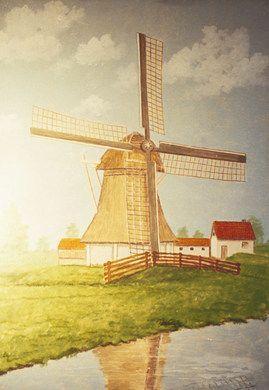 Kulissen mieten & vermieten - Niederländische Windmühlen Kulisse, Niederlande, Holland, Windmühle, Mühle, Kulisse, Dekoration, Landschaft, Event in Kamp-Bornhofen