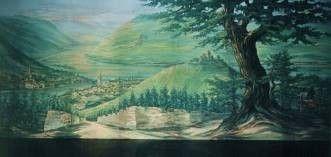 Kulissen mieten & vermieten - Rüdesheim mit Blick auf das Niederwalddenkmal Kulisse, Kulisse, Rüdesheim, Niederwalddenkmal, Denkmal, Niederwald in Kamp-Bornhofen