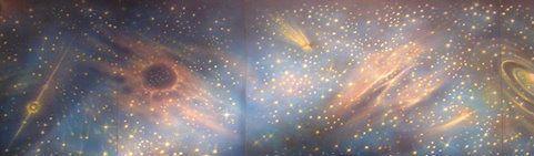 Kulissen mieten & vermieten - Weltraum Kulisse, Kulisse,Dekoration, Milchstraße, All, Weltall, Weltraum, Universum, Raumfahrt, Mondlandung in Kamp-Bornhofen