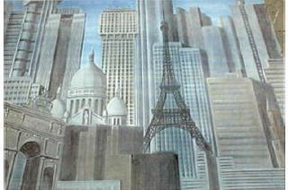 Kulissen mieten & vermieten - Skyline von Paris Kulisse, Paris, Kulisse, Arc de Triomphe, Triumphbogen, französisch, Eiffelturm, Skyline, France in Kamp-Bornhofen