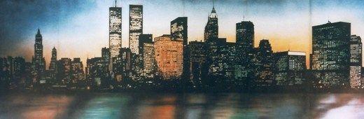 Kulissen mieten & vermieten - New York Kulisse, Kulisse, Skyline, Dekoration, New York, USA, Amerika, Stadtkulisse, Großstadt, Hochhaus in Kamp-Bornhofen