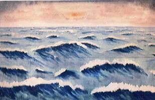 Kulissen mieten & vermieten - Wasser Wellen Kulisse, Wellen, Wasser, Meer, Ozean, Kulisse, Dekoation, Event, Messe, Veranstaltung, leihen, mieten in Kamp-Bornhofen