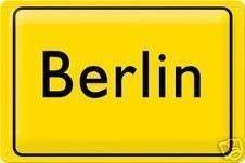 Requisiten mieten & vermieten - Ortsschild Berlin, Berlin, Ortsschild, Hauptstadt, Ortseingangsschild, Stadtschild, Schild, Berlin Schild, Dekoration in Kamp-Bornhofen