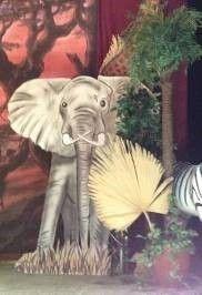 Requisiten mieten & vermieten - Elefant Cut Out, Elefant, Cut Out, Afrika, Savanne, afrikanisch, Indien, indisch, Asia, Asien, asiatisch, Tier in Kamp-Bornhofen