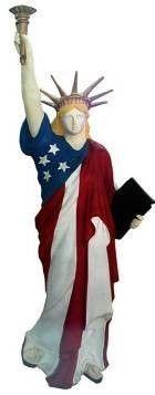 Requisiten mieten & vermieten - Amerika Liberty Figur, USA, Nationalfarben, Amerika, Liberty, Freiheitsstatue, Unabhängigkeit, New York, Wahrzeichen in Kamp-Bornhofen
